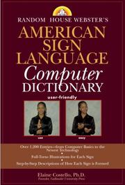 Cover of: Random House Webster's American Sign Language Computer Dictionary