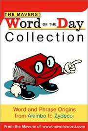 Cover of: The Mavens' Word of the Day Collection | Random House