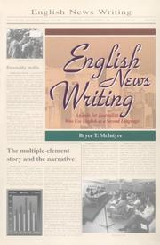 Cover of: English news writing