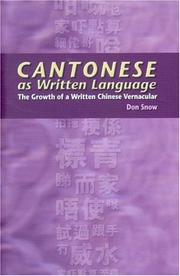Cover of: Cantonese As Written Language