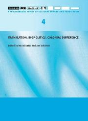 Cover of: Translation, Biopolitics, Colonial Difference (Traces) |