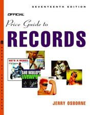 Cover of: The Official Price Guide to Records, Edition #17 (Official Price Guide to Records)