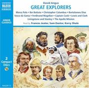 Cover of: Great Explorers (Junior Classics) | David Angus