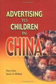 Cover of: Advertising to Children in China | Kara Chan