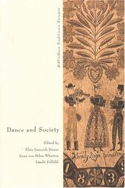 Cover of: Dance And Society |
