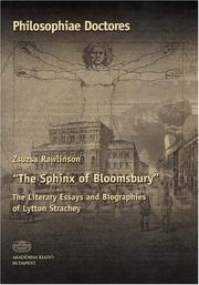 Cover of: The Sphinx of Bloomsbury | Zsuzsa Rawlinson