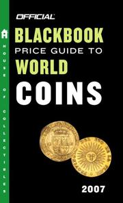 Cover of: The Official Blackbook Price Guide to World Coins 2007