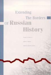 Cover of: Extending the Borders of Russian History |