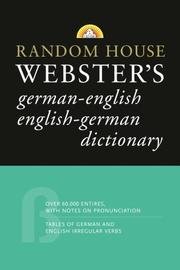 Cover of: Random House Webster's German-English English-German Dictionary