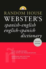 Cover of: Random House Webster's Spanish-English English-Spanish Dictionary