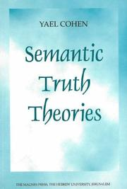 Semantic truth theories