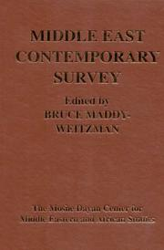 Cover of: Middle East Contemporary Survey |