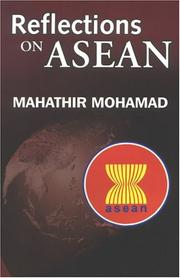 Cover of: Reflections on ASEAN