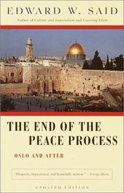 Cover of: The end of the peace process: Oslo and after