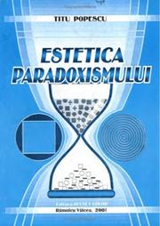 Cover of: The aesthetics of paradoxism