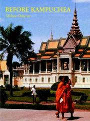 Cover of: Before Kampuchea | Milton Osborne