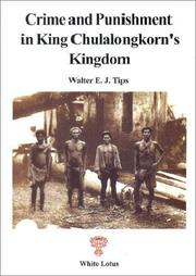 Cover of: Crime and punishment in King Chulalongkorn's kingdom
