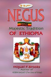 Cover of: NEGUS   Majestic Tradition of Ethiopia | Miguel F. Brooks