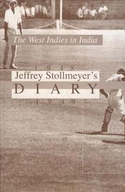 Cover of: The West Indies in India, 1948-1949