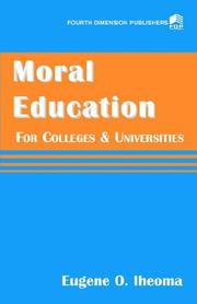 Cover of: Moral education