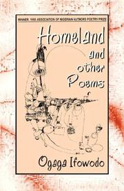Cover of: Homeland & other poems