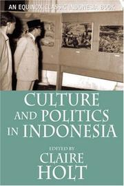 Cover of: Culture and Politics in Indonesia | Benedict Anderson
