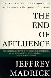Cover of: The End of Affluence