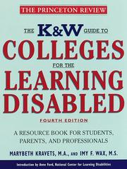 Cover of: K & W  Guide to Colleges for the Learning Disabled
