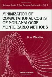 Cover of: Minimization of computational costs of non-analogue Monte Carlo methods