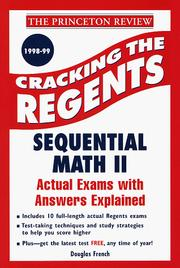 Cover of: Cracking the Regents Exams