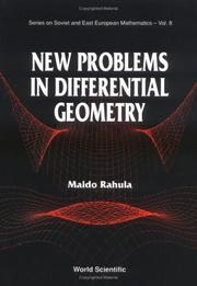 Cover of: New problems in differential geometry | M. Rahula