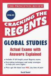 Cover of: Cracking the Regents Exam | David Daniel