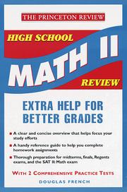 Cover of: High School Math II Review