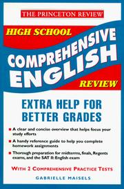 Cover of: High school comprehensive English review | Gabrielle Maisels