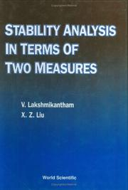 Cover of: Stability analysis in terms of two measures