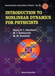 Cover of: Introduction to nonlinear dynamics for physicists