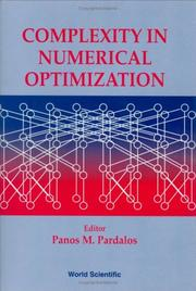Cover of: Complexity in numerical optimization |