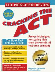 Cover of: Cracking the ACT 1998-99 Edition (Cracking the Act) | John Katzman