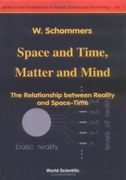 Cover of: Space and time, matter and mind