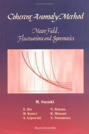 Cover of: Coherent anomaly method