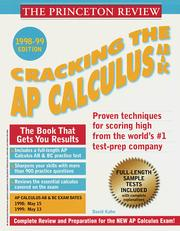Cracking the AP Calculus 1998-99 Edition (Ab & Bc)