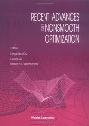 Cover of: Recent advances in nonsmooth optimization |