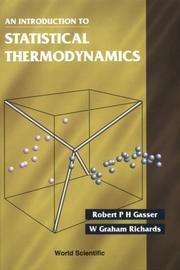 Cover of: An introduction to statistical thermodynamics