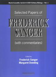 Cover of: Selected papers of Frederick Sanger