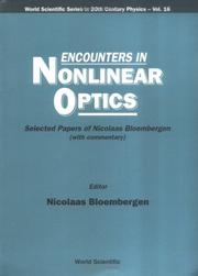 Cover of: Encounters in Nonlinear Optics