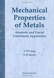Cover of: Mechanical Properties of Metals