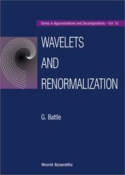 Cover of: Wavelets and renormalizations