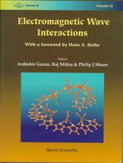 Cover of: Electromagnetic wave interactions |