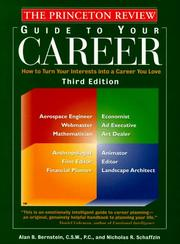 Cover of: Princeton Review: Guide to Your Career