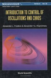 Cover of: Introduction to control of oscillations and chaos